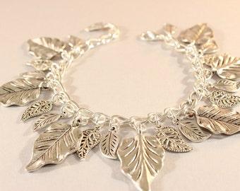 Leaf Bracelet - Fall Bracelet - Thanksgiving Jewelry - Leaf Jewelry - Mother Gift - Hostess Gift - Teacher Gift - Wife Gift