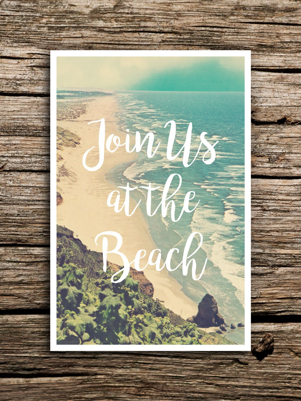 At the beach wedding save the date postcard destination for Ideas on a postcard