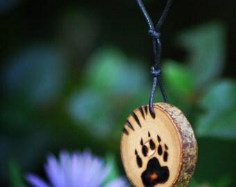 Bear paw print Pendant.