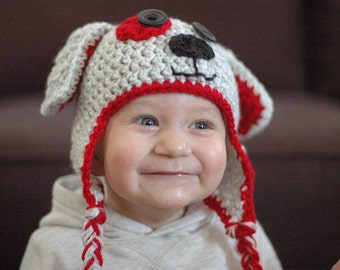 Crochet Baby Hat, Crochet Puppy Hat, Winter Accessories, Crochet Toddler Hat, Crochet Newborn Hat