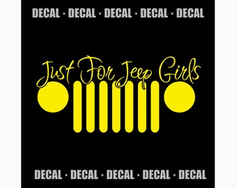 Just For Jeep Girls Logo Decal