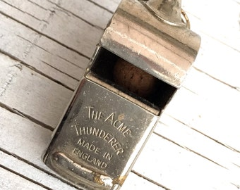 Acme Thunderer whistle, made in England. Vintage whistle.