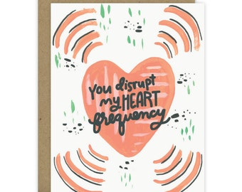 Valentine's Day Card, Sweet Valentine, From boyfriend, Love Card, Husband Card, Wife Card, Romantic Card, Anniversary card, Heart frequency
