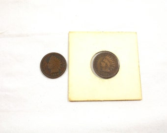 Two (2) Indian Head Pennies