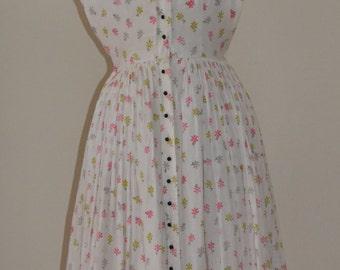 1950s Daisy Cotton Dress