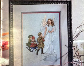 Angel Cross Stitch Patterns, Guardian Angel Cross Stitch Pattern, Leisure Arts  Vintage Cross Stitch Patterns
