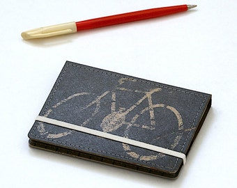 Upcycled Mini Journal- Urban Bicycle Edition