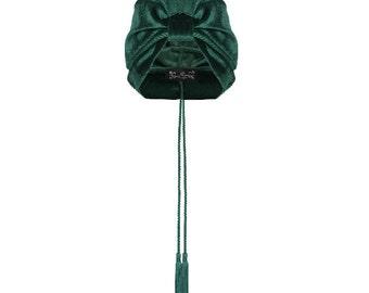Ruby Tassel Turban in Green