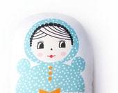 Baby Doll Pillow/ Organic Cushion/ Decor/ Nursery/ Baby Gift Kids Room Children's Decor Decoration Modern Nursery Soft Plush Baby Toy Rattle