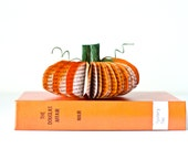 Miniature Book Page Pumpkin - Thanksgiving Recycled Table Decoration - Upcycled and Eco Friendly Fall and Autumn Home Decor