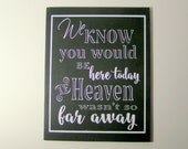 Heaven Wedding Sign/If Heaven wasn't so far away Remembrance Sign/Reception Hall/Church Sign/Holiday Dinner/Hand Painted/