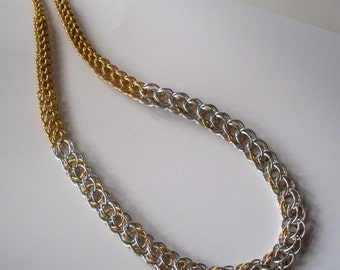 Graduated Chunky Chainmaille Necklace