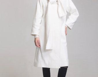 white wool coat cape jacket pink woolen coat