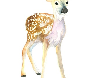 Original Watercolor Painting, Fawn No.1