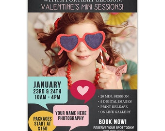 Valentine's Day Marketing Template for Photographers - Photography Marketing Newsletter Template - Photoshop Templates - AD141