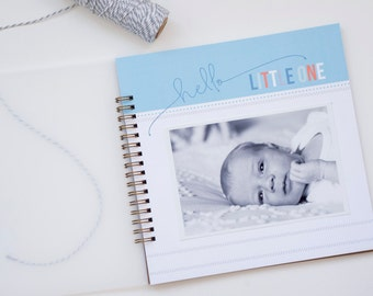 Simple Boy Baby Book Journal and Album: Blue Pastel // Baby Boy Memory Book