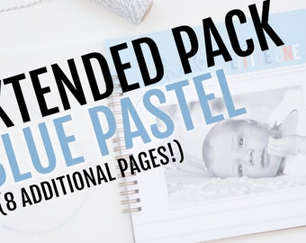 Extended Pack for Blue Pastel Baby Book // 8 Additional Pages!