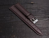 Dark COFFE brown strap for watches (18mm)