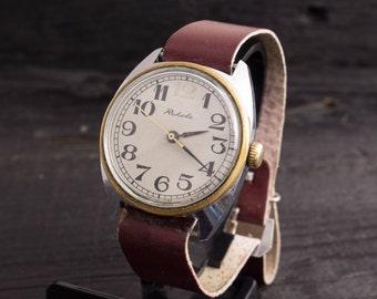 Mens watch, Vintage Raketa mens watch, soviet watch, vintage wrist watch, retro watch, mechanical russian watch ussr ccp soviet watch