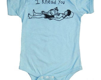 Cat Baby Clothes,  I Knead You, Cute Onesie Baby Shower