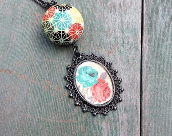 Bright Bouquet Necklace/Modern/Boho/Hippie/Victorian
