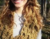 Burnt Orange Speckled Handmade Crochet Scarf