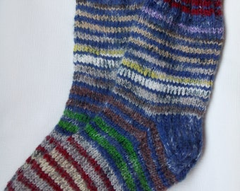 Hand Knitted Wool Socks For Men-Colorful socks-Size Large US W11,5,EU45