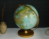 Vintage World Globe Replogle Ocean Series 12 inch 1980s Map/Shipping/Gifts/Science/Education/Maps/Home/Decor/Office/Marine/Gift/Industrial