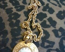 Mechanical Gold Plated Very Feminine Caravelle Watch Pendant