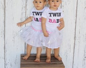 Twin A & Twin B Baby Bodysuit and Youth T Shirts
