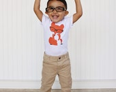 Fox with Glasses Baby Bodysuit and Youth T Shirts