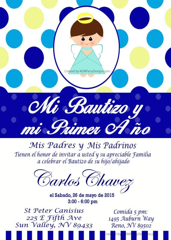 Tarjetas de Bautizo y Cumpleanos Invitaciones de Bautismo