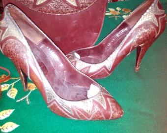 Sacha London set size 35 with authentic bag shoes made in Spain  pre owned circa 1960's