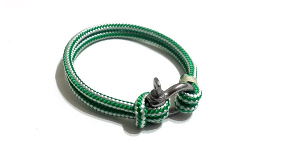 nautical sailing bracelet stainless steel shackle paracord