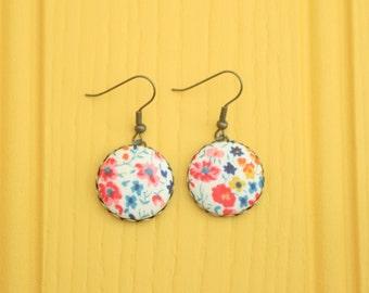 Liberty Fabric Earrings in Phoebe