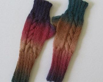 PATTERN ONLY for Cabled Front Fingerless Mitts