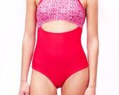 Women Swimsuit / One Piece Swimsuit / Bathing Suit / Surf Suit / Women removable bathing suit / Handmade printed swimsuit