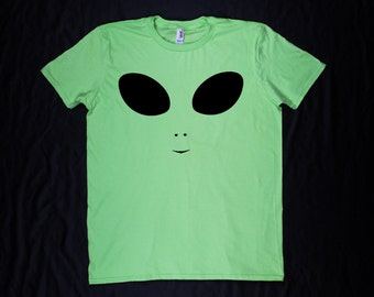 Alien Neon Green Oversized Unisex Shirt
