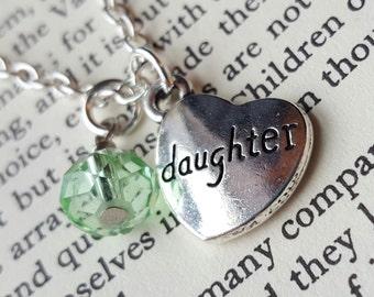 Daughter Birthstone Necklace