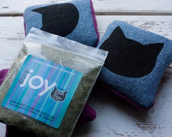 Joy Bags - catnip/valerian/silver vine cat toys; made from upcycled fabrics