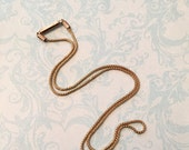 Antique Chain, Gold Filled Snake Style Chain with Barrel Clasp for Antique Locket