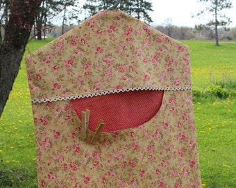 Gold and Terracotta Clothes Pin Bag