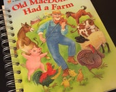 Old MacDonald Had a Farm Little Golden Book Recycled Journal
