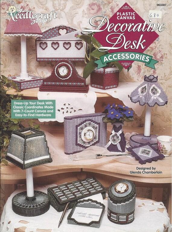 Plastic canvas pattern book decorative desk accessories home - Decorative desk organizers ...