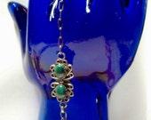 Malachite Sterling Silver Southwestern Slave Bracelet