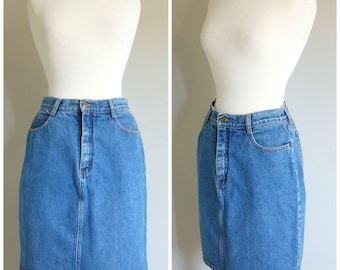 Vintage DENIM MINISKIRT/size Small-Medium