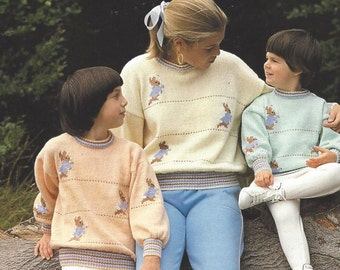 Knitting Pattern For Peter Rabbit Jumper : Rabbit sweater   Etsy