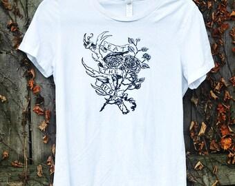 eat the rude // ladies' white t-shirt