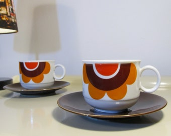 Pair of Vintage Teacup Coffee and Saucer  Seltmann Weiden  Bavaria West Germany