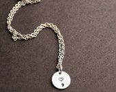Heart SemiColon Necklace, Semicolin Jewelry, You're Story Is Not Over Yet, Minimalist Jewelry, Tiny Awareness Necklace